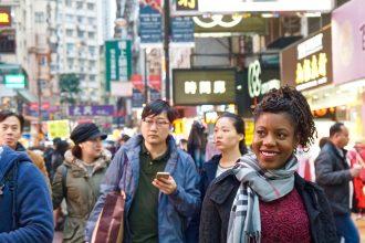 black expat african american in hong kong