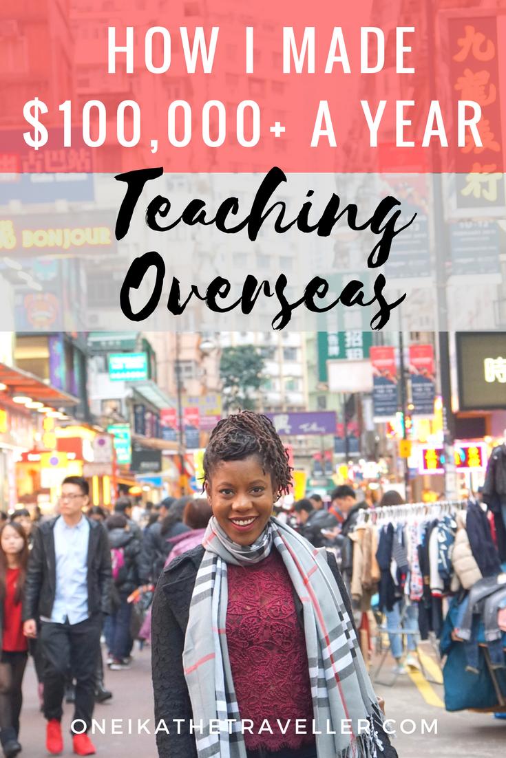 How I Made Over $100K Teaching Overseas